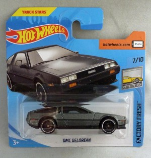 HotWheels DMC Delorean Factory Fresh Metallic Grey 7/10