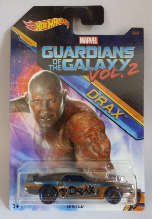 HotWheels Marvel Guardians Of The Galaxy Vol.2 Drax Rivited 2/8