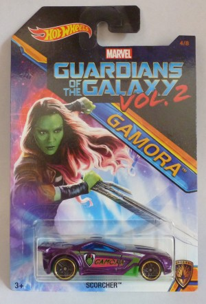 HotWheels Marvel Guardians Of The Galaxy Vol.2 Gamora Scorcher 4/8