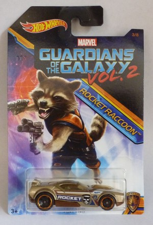 HotWheels Marvel Guardians Of The Galaxy Vol.2 Rocket Raccoon Fast Fish 3/8