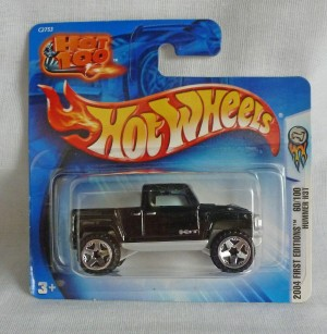 HotWheels Hummer HT3 Black 2004 First Editions