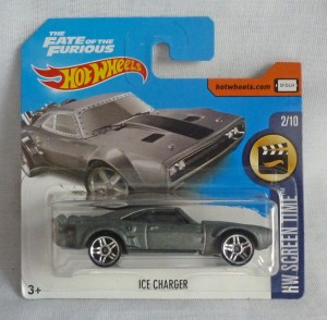 "HotWheels Fast & Furious ""The Fate of the Furious"" Ice Charger Short Card 2/10"