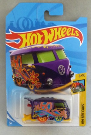 HotWheels Treasure Hunt Volkswagen Camper Van Kool Kombi Purple HW Art Cars 8/10