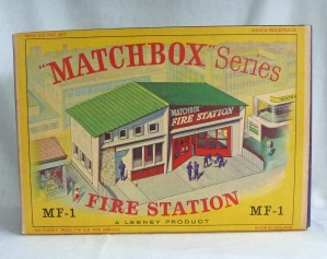 Matchbox Series MF-1 Fire Station Green Roof with Brick Design