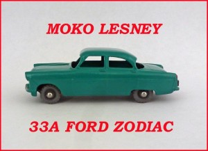 Moko Lesney Matchbox MB33 Ford Zodiac 33a