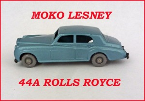 Moko Lesney Matchbox MB44 Rolls Royce Silver Cloud 44a