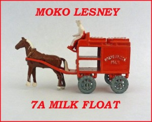 Moko Lesney Matchbox MB7 Horse Drawn Milk Float 7a
