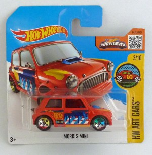 HotWheels Morris Mini HW Art Cars 3/10 Red Short Card