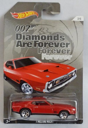 "HotWheels 007 James Bond Mustang Mach 1 ""Diamonds are Forever"" Long Card 2/5"