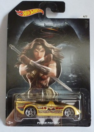 "HotWheels Super Heroes ""Wonder Woman"" Power Pistons 6/7"