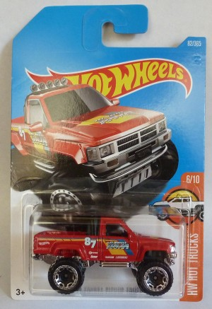 HotWheels 1987 Toyota Pick-Up Truck Red
