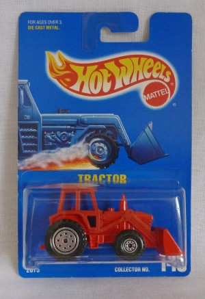 HotWheels Blue Card 145 Tractor Red