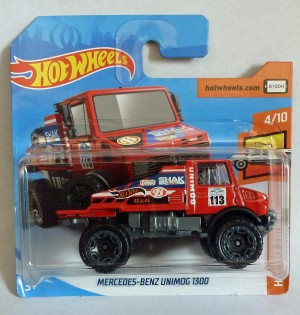 "HotWheels Mercedes Benz Unimog 1300 Red ""HW Hot Trucks"""