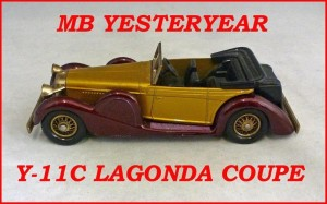 Matchbox Models of Yesteryear Y-11c Lagonda Dophead Coupe