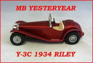Matchbox Models of Yesteryear Y-3c 1934 Riley