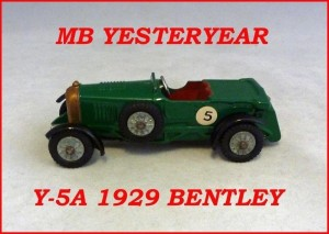 Matchbox Models of Yesteryear Y-5a Le Mans Bentley