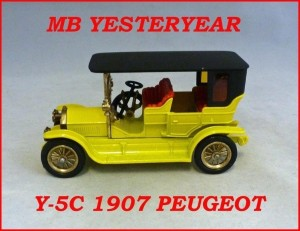 Matchbox Models of Yesteryear Y-5c 1907 Peugeot