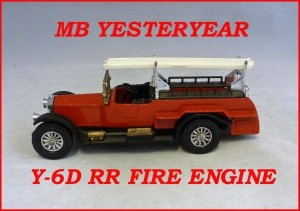 Matchbox Models of Yesteryear Y-6d Rolls Royce Fire Engine