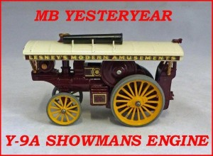 Matchbox Models of Yesteryear Y-9a Fowler Showman Engine