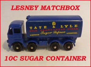 Matchbox Toys MB10 Foden Sugar Container 10c