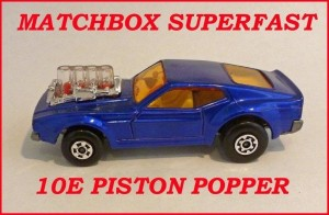 Matchbox Superfast MB10 Mustang Piston Popper 10e