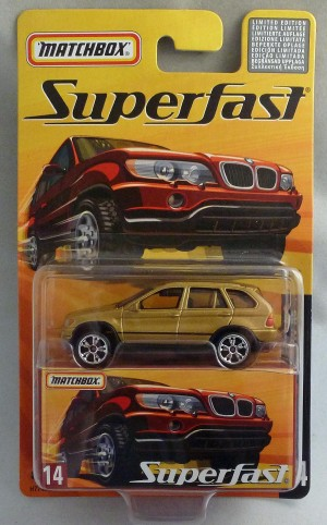 Matchbox Superfast MB14 BMW X5 Gold