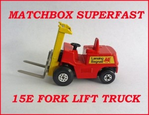 Matchbox Superfast MB15 Fork Lift Truck 15e