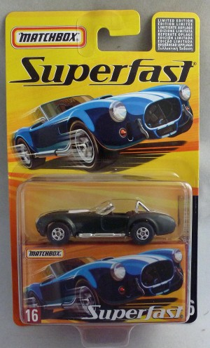 Matchbox Superfast MB16 1965 Shelby Cobra 427 Dark Green