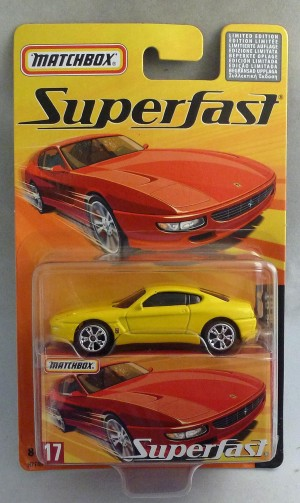 Matchbox Superfast MB17 Ferrari 456 GT Yellow