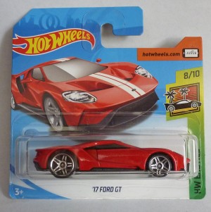 "HotWheels '17 Ford GT Red ""HW Exotics"" Short Card"