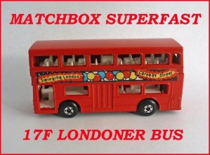Matchbox Superfast MB17 Londoner Bus Berger Paints 17f