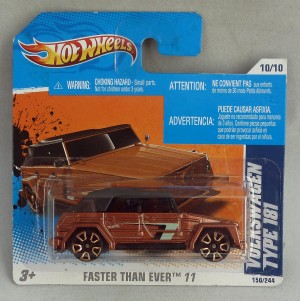 "HotWheels Volkswagen Type 181 Copper ""Faster Than Ever"""