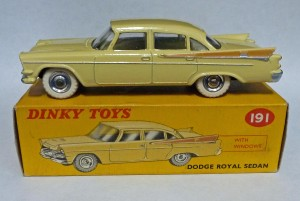 Dinky Toys 191 Dodge Royal Sedan Cream