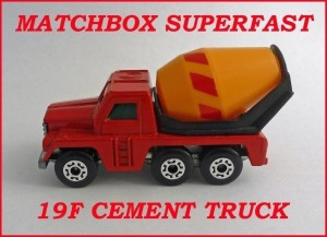 Matchbox Superfast MB19 Cement Truck 19f