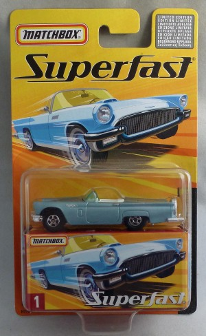 Matchbox Superfast MB1 1957 Ford Thunderbird Steel Blue