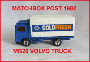Matchbox MB20 Volvo Container Truck