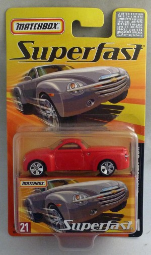 Matchbox Superfast MB21 Chevrolet SSR Red