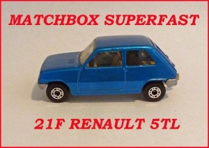 Matchbox Superfast MB21 Renault 5TL 21f