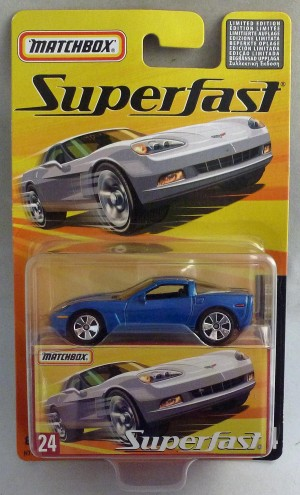 Matchbox Superfast MB24 Chevrolet Corvette C6 Blue