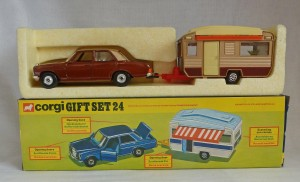 Corgi Toys Gift Set 24 Mercedes & Touring Caravan Set