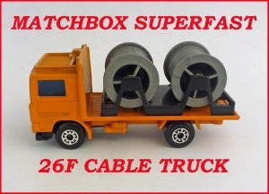Matchbox Superfast MB26 Volvo Cable Truck 26f