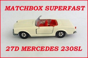 Matchbox Superfast MB27 Mercedes 230 SL 27d