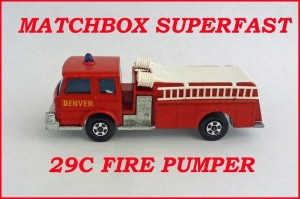 Matchbox Superfast MB29 Fire Pumper 29c