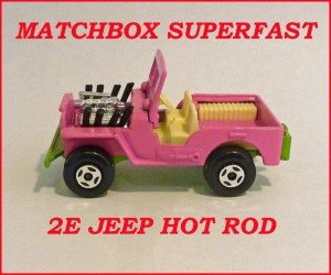 Matchbox Superfast MB2 Jeep Hot Rod 2e