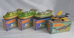 Matchbox Picture Box Collection Preview MB2f/g Hovercraft & S-2 Jet