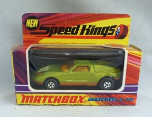 Matchbox Speed Kings K-30 Mercedes C111 with Amber Windows
