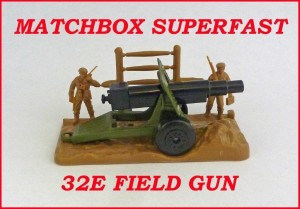 Matchbox Superfast MB32 Field Gun 32e