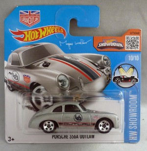 "HotWheels Porsche 356a Outlaw Silver ""HW Showroom"" 10/10 Short Card"