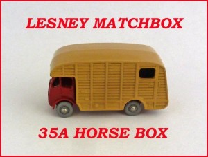 Lesney Matchbox Toys MB35 Marshall Horse Box 35a