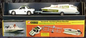 Corgi Toys Gift Set 37 Fiat X1/9 Carlsberg Power Boat Set